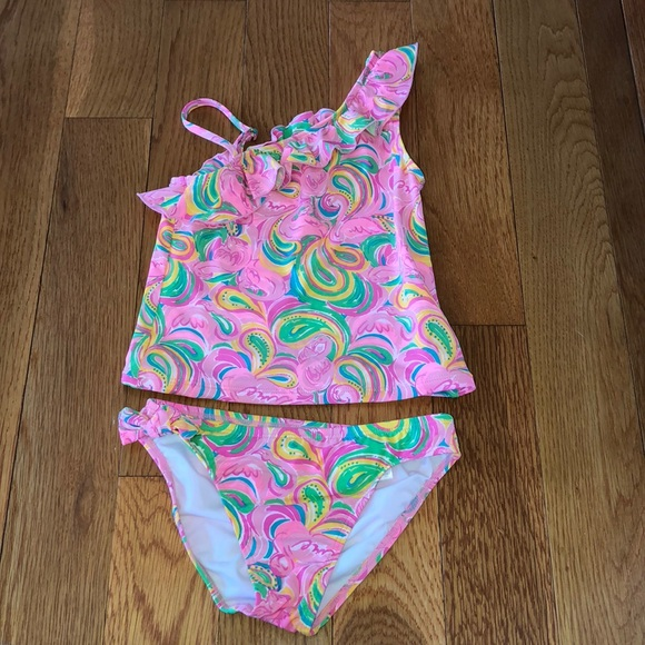 2b872687ef Lilly Pulitzer Swim | Lily Pulitzer 2 Piece Girls Bathing Suit ...
